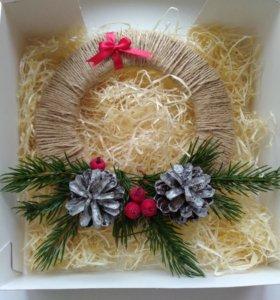 Новогодний венок подарок новогоднее украшение елка