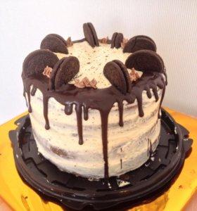 Торт 3 кг с печеньем и ганашем