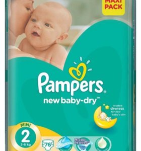 памперс new baby-dry №2 3-6кг