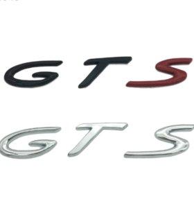 Эмблема на багажник Porsche Turbo GTS 3 цвета