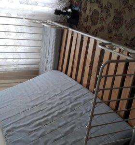 Кровать детская ИКЕА - 2 шт + реечное дно + матрас