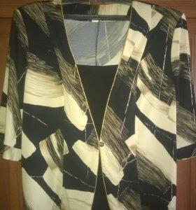 Блузка - пиджак, размер 62