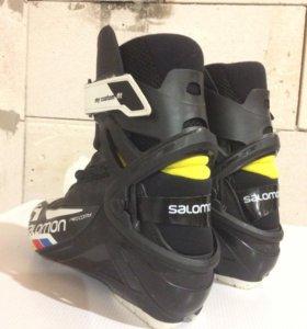 Ботинки лыжные беговые salomon pro combi