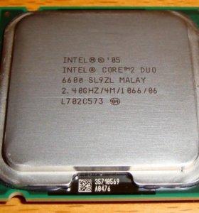 Процесор Intel core 2 duo e6600 цокет 775