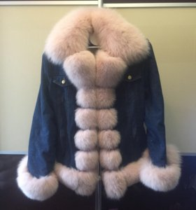 Джинсовая куртка с финским песцом