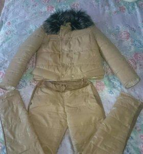 Женский тёплый костюм куртка и штаны