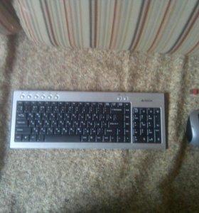 Беспроводная клавиатура мышка