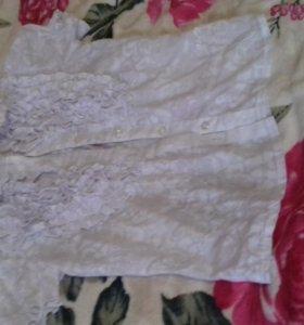 Рубашка для девочки 7 лет