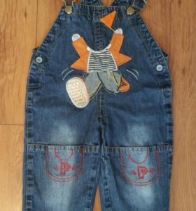 Джинсовые комбинезоны и джинсы