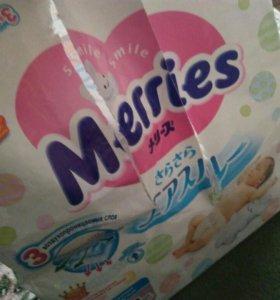 Памперсы Merries от рождения до 5 кг
