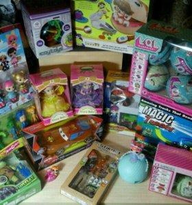 Игрушки, машинки, куклы, на новый год