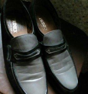 Ботинки кожа испания 42р. одел 2 раза