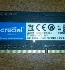 4GB DDR3L на ноутбук