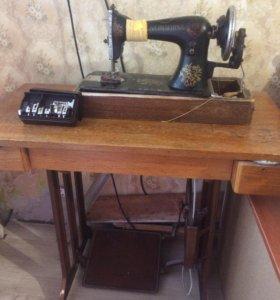 Швейная машинка и Швейная машинка Зингер