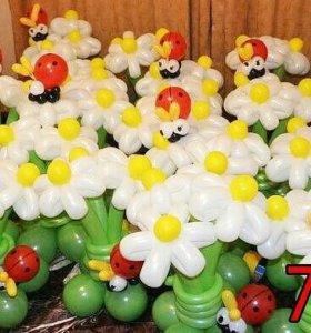Букеты из шаров маме