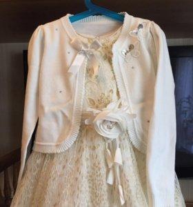 Платье и болеро рост 122