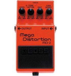 BOSS MD-2 педаль гитарная Mega Distortion