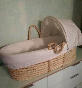 Плетеная люлька колыбель Mothercare
