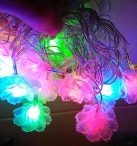Гирлянда цветочки 17 ламп