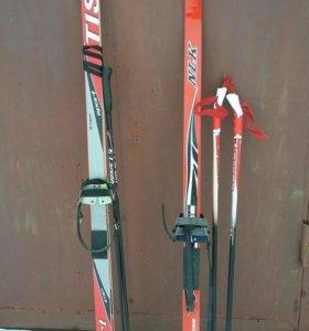 Лыжи б/у 138 и 156см