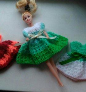 Кукла с платьями ручной работы