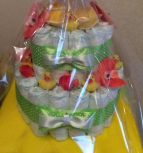 Торт из памперсов (подгузников )