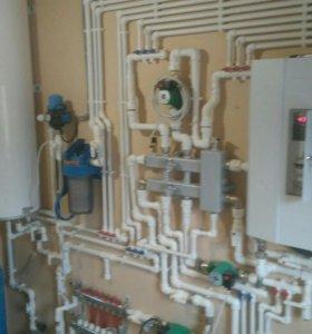 Монтаж отопления водоснабжения тёплых полов