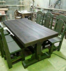 Обеденный стол и 6 стульев