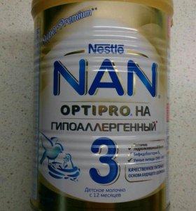 Новая сухая смесь Nestle NAN 3 HA гипоаллергенный
