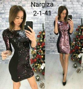 Новое платье с пайетками❄