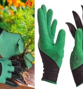 Садовые перчатки с когтями для сада