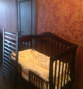Кроватка детская + стул для кормления