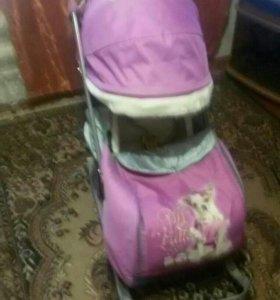 Санки коляска Ника 7-2 детям