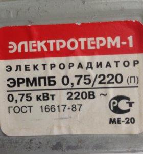 Радиатор отопления маслянный ЭЛЕКТРОТЕРМ-1