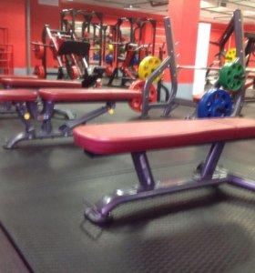 Маты резиновые для фитнес клубов