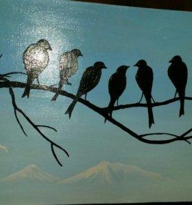 """Картина """"вороны"""""""