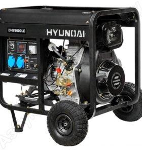 Дизель-ген-р 5,5кВт HYUNDAI DHY8000LE+колёса новый