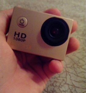 Новые экшен камеры в коробках с кучей креплений