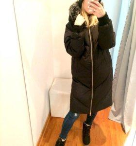 Свободное дутое пальто (на пуху, магазин)