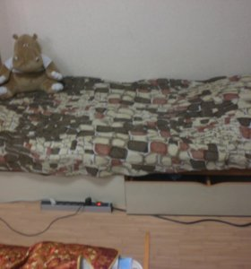 Кровать односпальняя+матрас