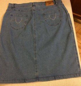 Юбка джинсовая р. 54-56
