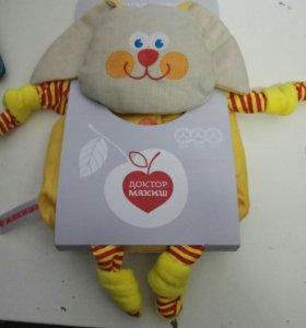 Детская льяная игрушка с вишневыми косточками