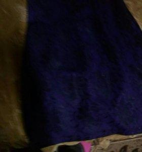 Платье цвет индиго