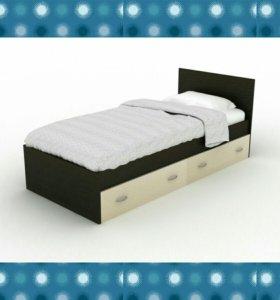 Кровать с ящиками односпальная