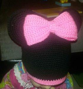 Шапка+шарф для девочки