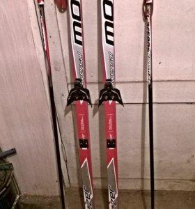Продам беговые лыжи, пластик