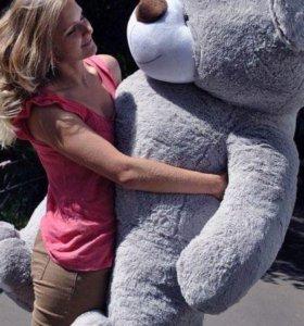 Огромный плюшевый медведь от 70 до 2 метров
