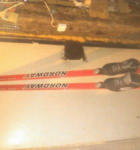 Лыжи 170см-160см-150см ботинки 39 -36-36 размеры