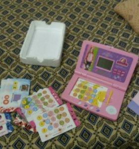 Детский ноутбук с карточками