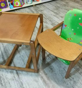 Детский стульчик трансформер (стол+стул)